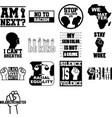 collection black lives matter phrases slogans vector image
