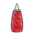 color crayon stripe cartoon red jar with tomato vector image