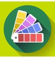 Color guide swatches palette - typographic fan