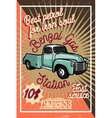 Color vintage gas station poster vector image vector image