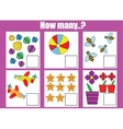 Counting educational children game How many vector image