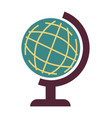 earth model globe with planet for geography vector image