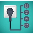 Electrical plug closeup vector image vector image