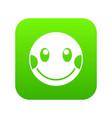 embarrassed emoticon digital green vector image