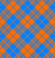 fabric texture diagonal pattern seamless orange vector image vector image