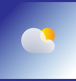 flat sun and cloud weather web icon isolated vector image vector image