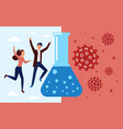 happy people jump and celebrate success vector image