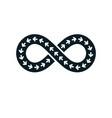 infinity loop symbol conceptual logo special vector image