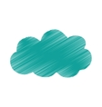 Isolated cloud weather vector image vector image