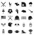 kinds of sports icons set simple style vector image