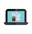 laptop technology vector image vector image
