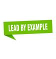 lead example speech bubble lead example vector image vector image
