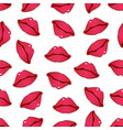 lips pattern 2 vector image vector image