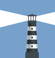 Logo lighthouse with light vector image