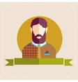 Male avatars in flat style Bearded man vector image
