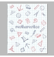 Math Sketch Icons Collection vector image vector image