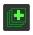 Medical Docs Flat Button vector image vector image
