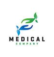 natural health letter s modern logo vector image vector image