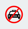 no taxi sign vector image vector image