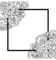 peonies mock up vector image vector image