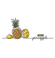 pineapple simple one vector image