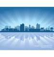 Port Elizabeth Africa city skyline silhouette vector image vector image
