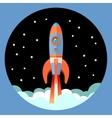 Rocket start emblem vector image vector image