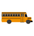 school bus on a white background flat style vector image
