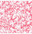 seamless pattern with flowers of pink lily vector image