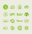 Set of elements for design - ecology vector image vector image