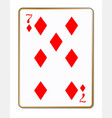 seven diamonds vector image vector image