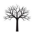 shape of black tree without leaves vector image