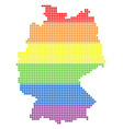 spectrum dot lgbt germany map vector image