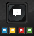 Speech bubbles icon symbol Set of five colorful vector image