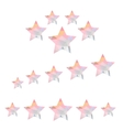 Star geometry of triangles on a white background vector image
