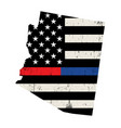 state arizona police and firefighter support vector image vector image