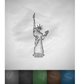 Statue of Liberty icon Hand drawn vector image