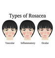 types of rosacea vector image vector image