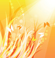 warm nature background vector image vector image
