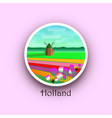 welcome to holland vector image