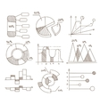 Graphs Pie Charts and Diagrams Hand Drawn vector image