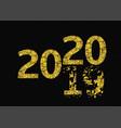 2020 broken golden numbers vector image vector image