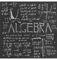Algebraic class blackboard vector image