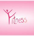 athletics logo human running logo character it vector image vector image