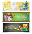 Back To School Horizontal Banners Set vector image vector image