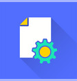 business report - icon for graphic and web vector image vector image