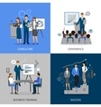 Business Training 2x2 Images Set vector image vector image