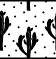 Cactus seamless pattern with saguaro cacti fabric