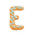 cartoon cookies font letter baking vector image vector image