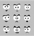 cartoon eyes template set vector image vector image